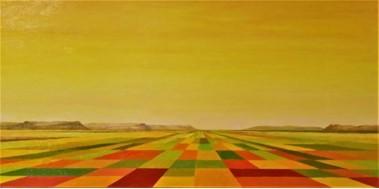 Campos de cultivo y cerros