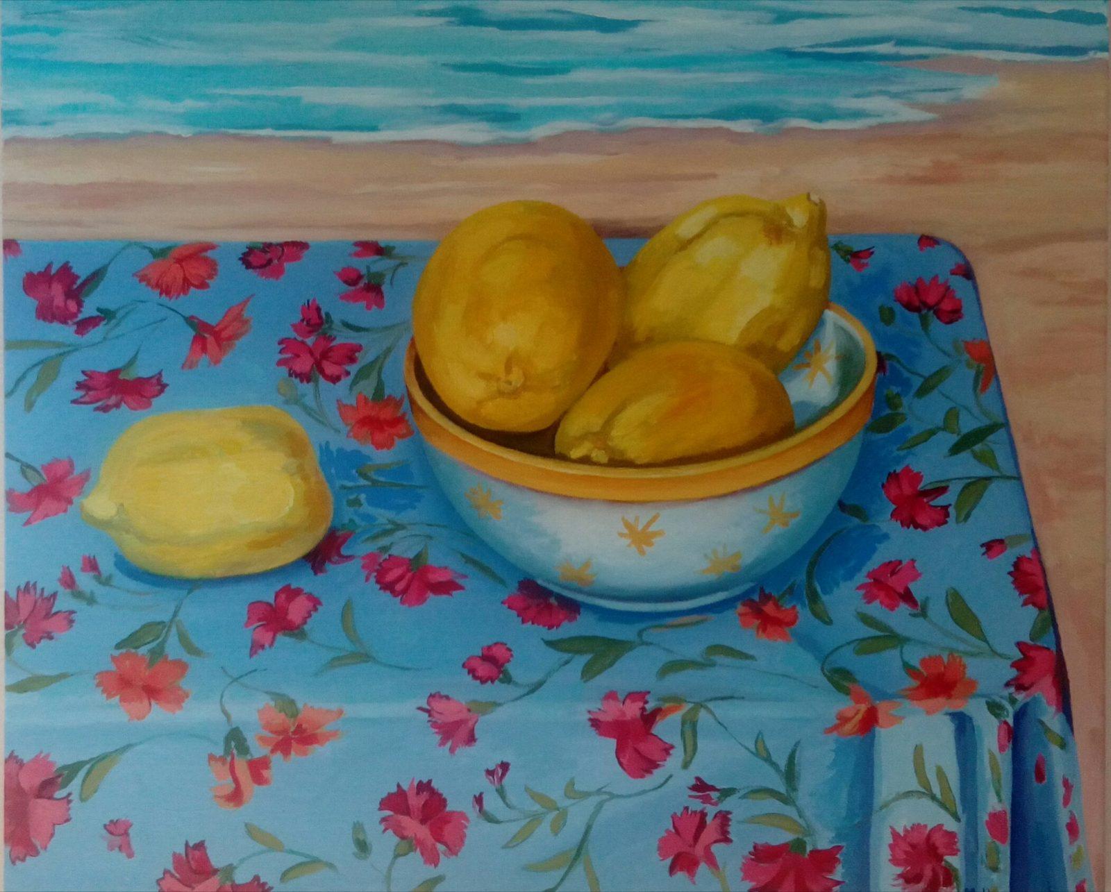 Limones y clavelinas