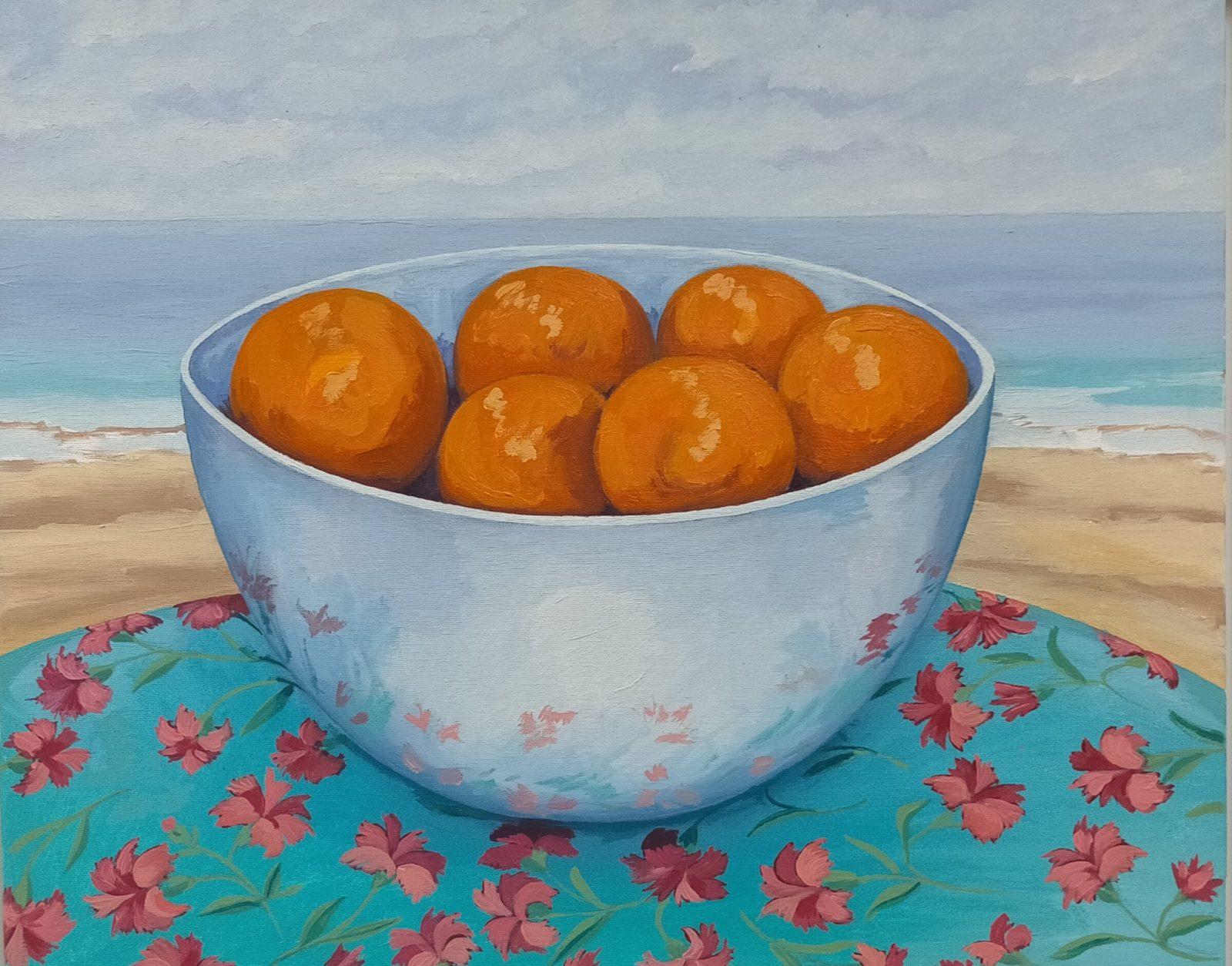 Naranjas y clavelinas